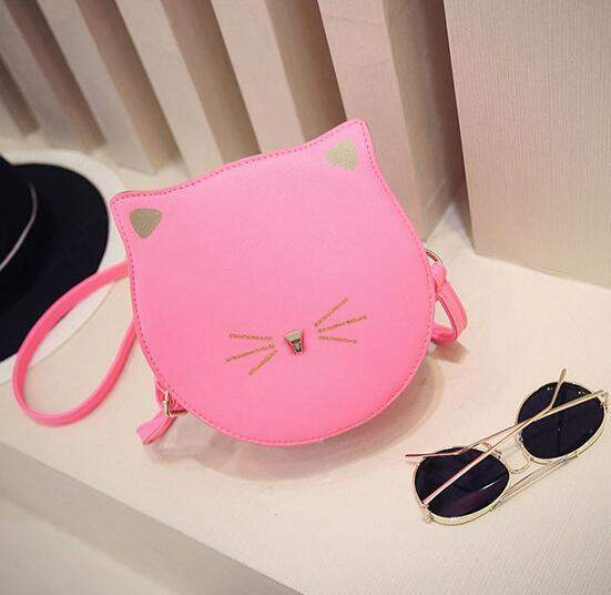 Quality PU leather Women bag 2016 fashion handbags Messenger packet cute kitty cat ears buns shoulder female bag large capacity