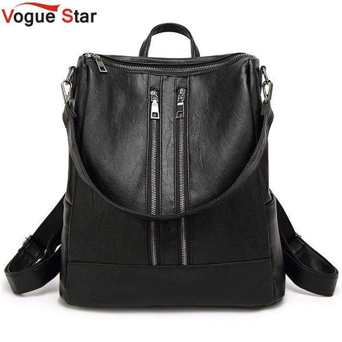 Women Backpack New Arrival Spring Women Backpack Simple Casual School Bag Medium Size Leather Backpack Girl's Daily Bag LB82 - successmall