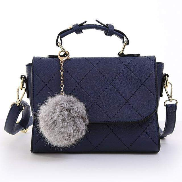 Vogue Star New Arrival Fashion PU Leather Top-handle Bag Messenger Bag Famous Brand Shoulder Bag with Ball Pendant LB76 - successmall