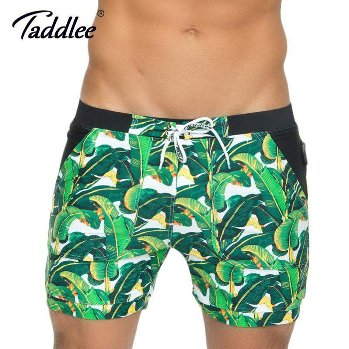 Taddlee Brand Men Swimwear Board Beach Shorts Basic Traditional High Rise Swimsuits Long Cut Boxer Trunks Plus Size XXL - successmall
