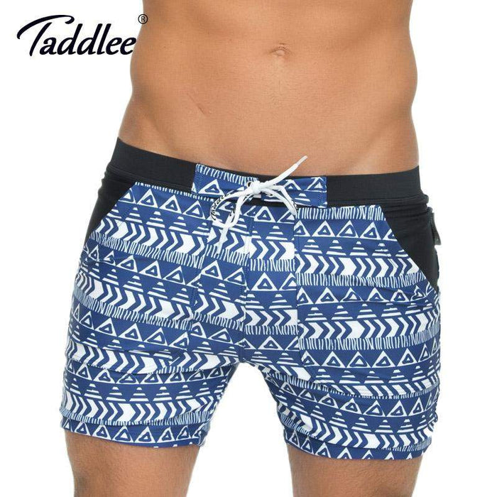 Taddlee Brand Men Swimwear Beach Board Boxer Trunks Shorts Plus Big Size XXL Swimsuits Basic Long High Rise Traditional Swimwear - successmall