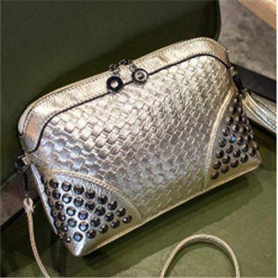YBYT brand 2017 new fashion knitting rivet bags hotsale ladies cell phone evening clutch mini shoulder messenger crossbody bags - successmall