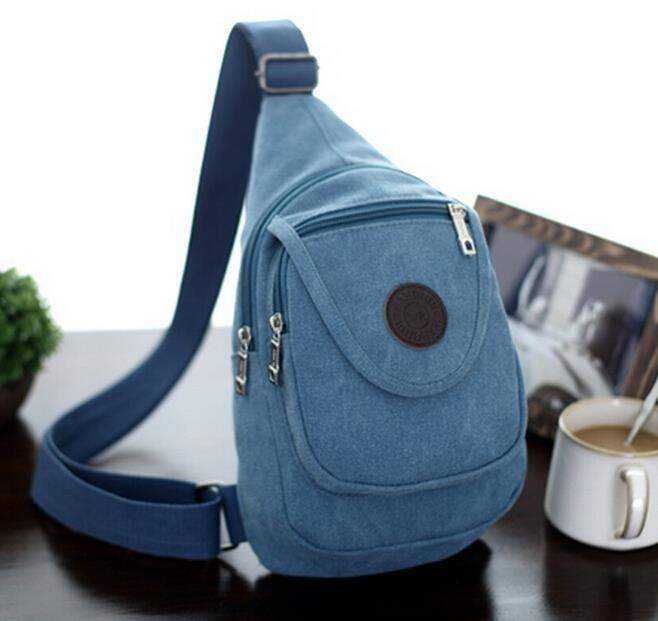 Free shipping 2016 Men bag High-quality canvas Men's shoulder bag chest canvas messenger bag Korean leisure package - successmall