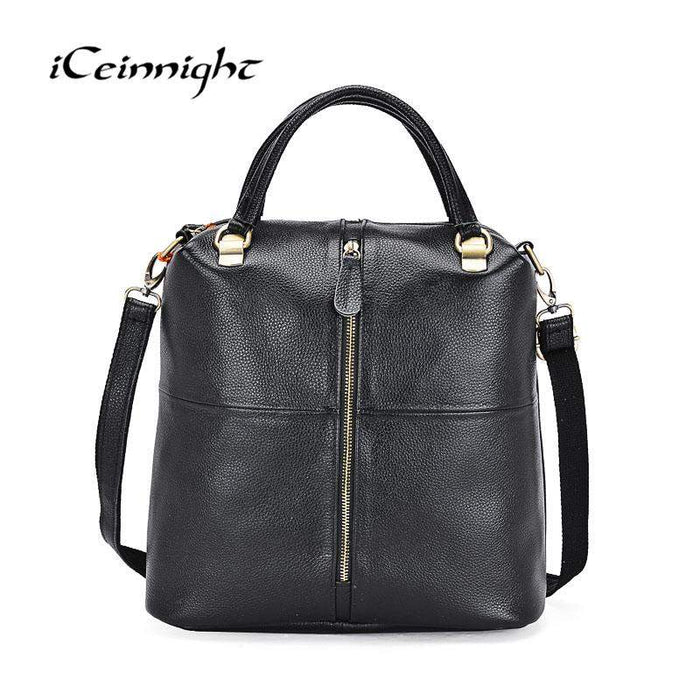 iCeinnight Genuine Leather Female Handbag Famous Luxury Brand Shoulder Bag Designer Crossbody Bags Women For girls 2017 - successmall