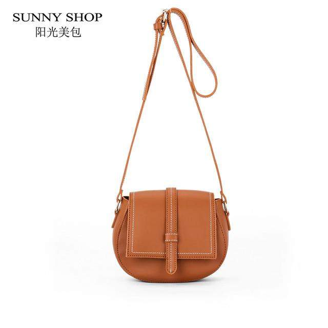 SUNNY SHOP Summer New Small Handbag For Girls Candy Color Women Messenger Bags Fashion Mini Saddle Bag For Women - successmall