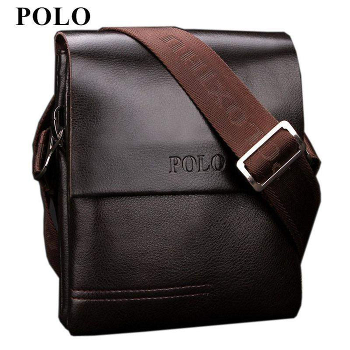 New Arrived POLO Genuine leather men's messenger bag mini fashion shoulder bag cross body bag business briefcase Free Shipping - successmall