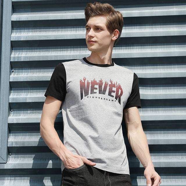 Pioneer Camp New design short T shirt men brand-clothing fashion printed T-shirt male top quality casual summer tshirt ADT702133 - successmall