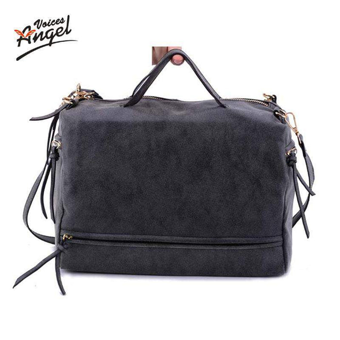 Angel Voices New Arrive Women Shoulder Bag Nubuck Leather Vintage Messenger Bag Motorcycle Crossbody Bags Women Bag