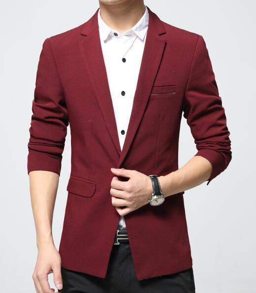 2017 Mens blazer and suit Jacket Casual fashion New Slim fit Single button Cotton blazer Korean plus size big 6XL red black blue