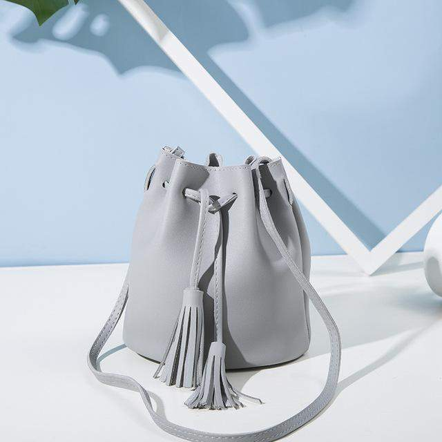 SMILEY SUNSHINE summer small women messenger bags candy color tassel ladies crossbody bags korean mini bucket shoulder bags new