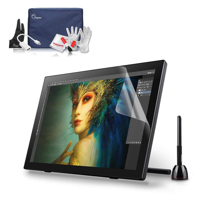"Parblo Coast22 21.5"" inch Pro Graphic Drawing Monitor Kit IPS Full HD 1080p Tablet W/ Cordless Battery-free Pen+ Cleaning Kit"
