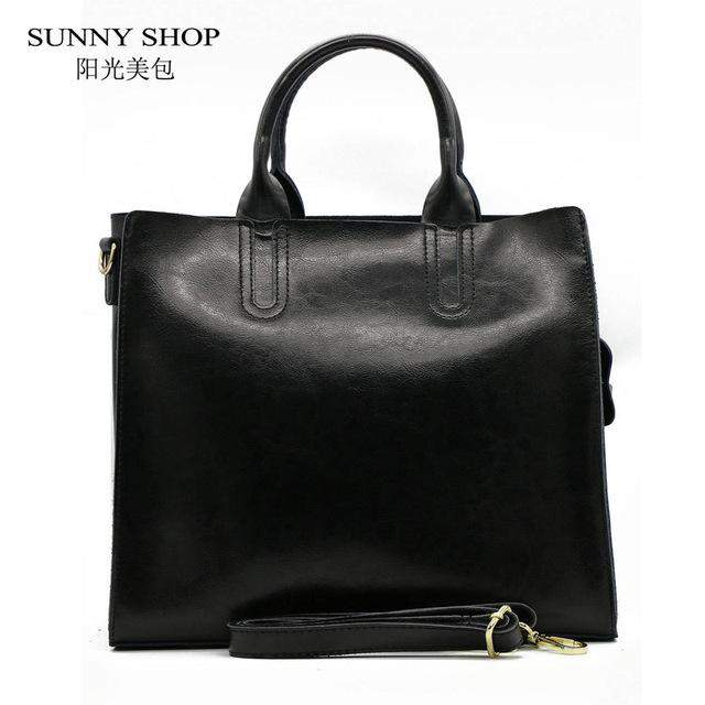 SUNNY SHOP High Quality 100% Genuine Leather Fashion Women Bag Brand Designer Real Leather Bag - successmall