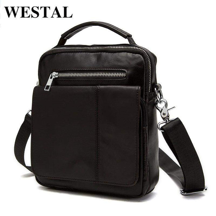 WESTAL men bags cowhide leather small men bag genuine leather crossbody bags men's messenger bag for travel mini handbag 8806 - successmall