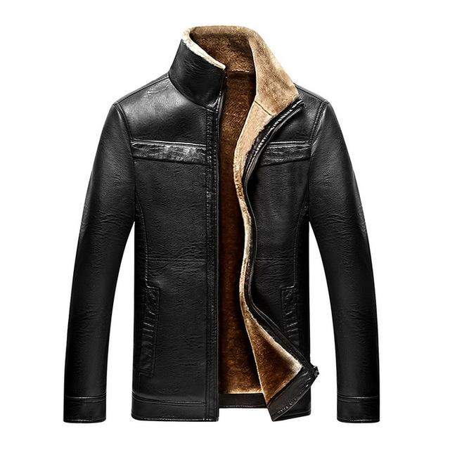 2017 New Men PU Leather Coats Turn Down Collar Zipper Hip Hop Urban Motorcycle Jackets 0622-01