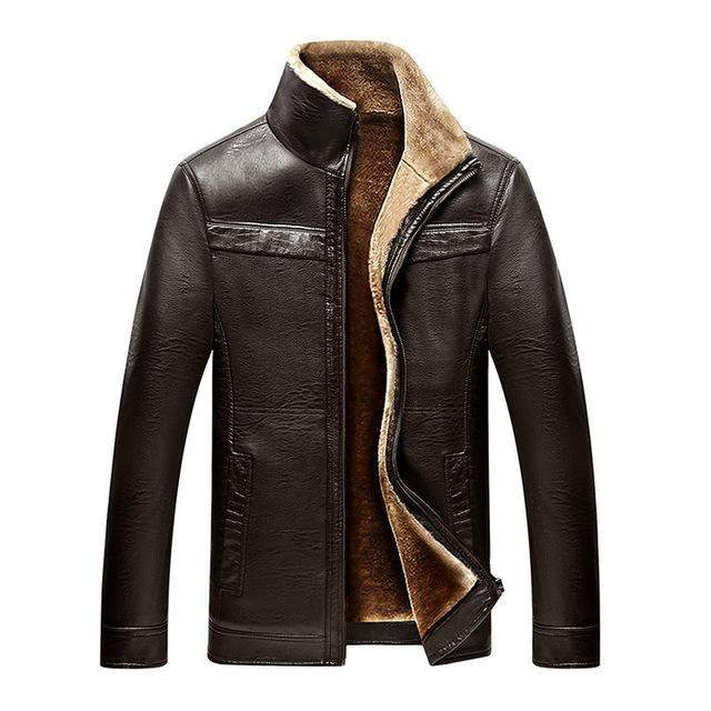 2017 New Men PU Leather Coats Turn Down Collar Zipper Hip Hop Urban Motorcycle Jackets 0622-01 - successmall