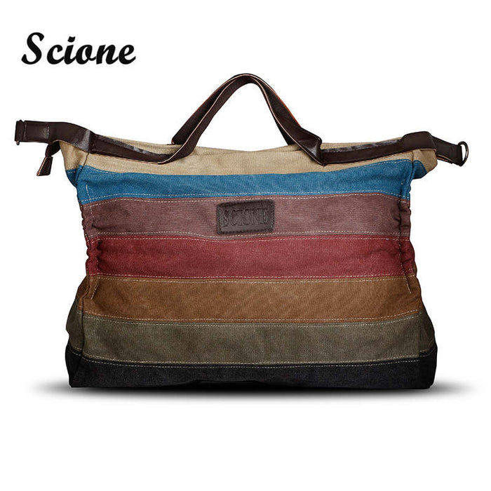 Large Canvas Handbag Women High Quality Canvas Shoulder Bag Casual Big Messenger Bag Female Ladies Beach Tote Crossbody Handbag - successmall