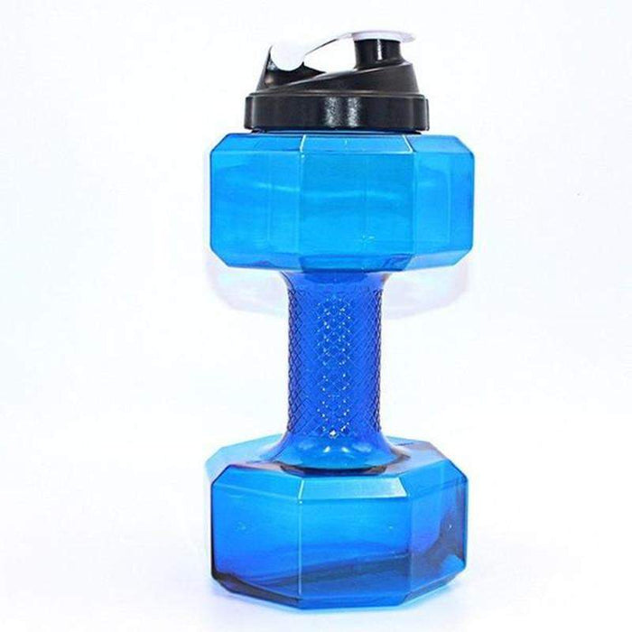 2.2L  Dumbbell Shaped Bpa-Free Plastic Water Bottle - successorize