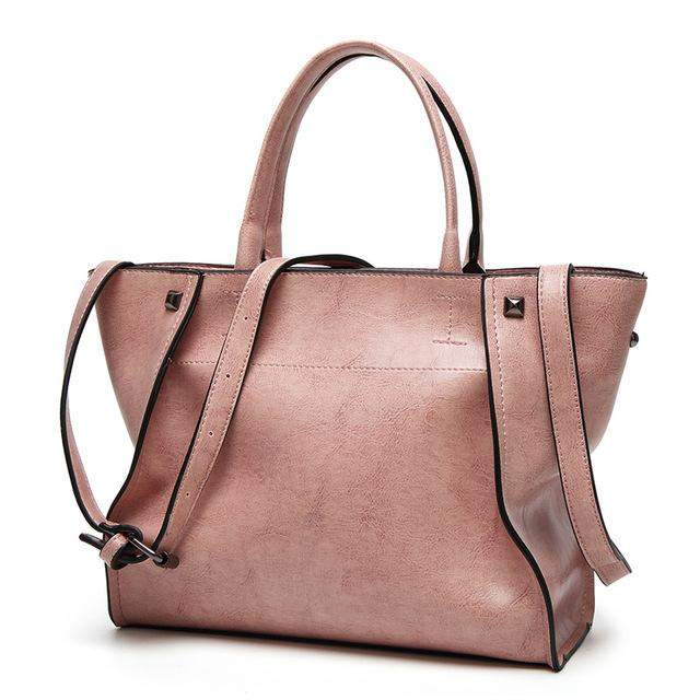 Herald Fashion Luxury Brand Tote Women Leather Handbags Vintage Shoulder Bag Famous Brands Top-Handle Bags Bolsa Feminina Pouch