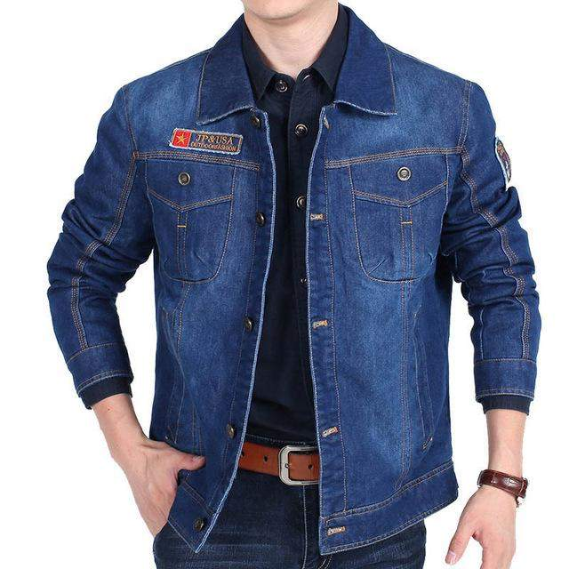 2017 New Brand Clothing Retro Classic Men's Denim Jacket Casual Thick Jeans Jacket Fashion Men's Autumn Winter Outwear Coat