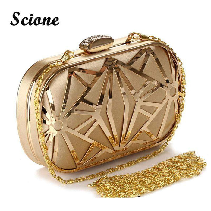 2017 Wedding Party Bags Clutches Women Gold Crystal Evening Bags Purse Factory Price Golden Clutch Bag Black Small Handbag 3030