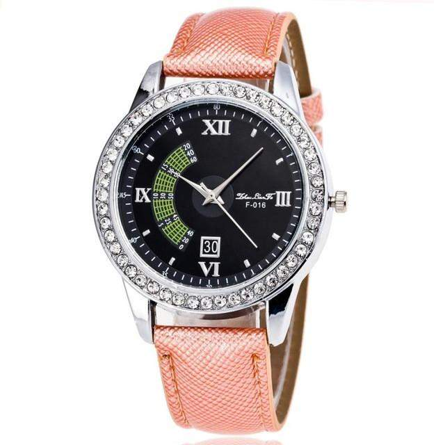 2017 women watches Luxury Brand Time Pattern Leather Band Analog Quartz Women's clock relojes mujer dress watch ladies Business