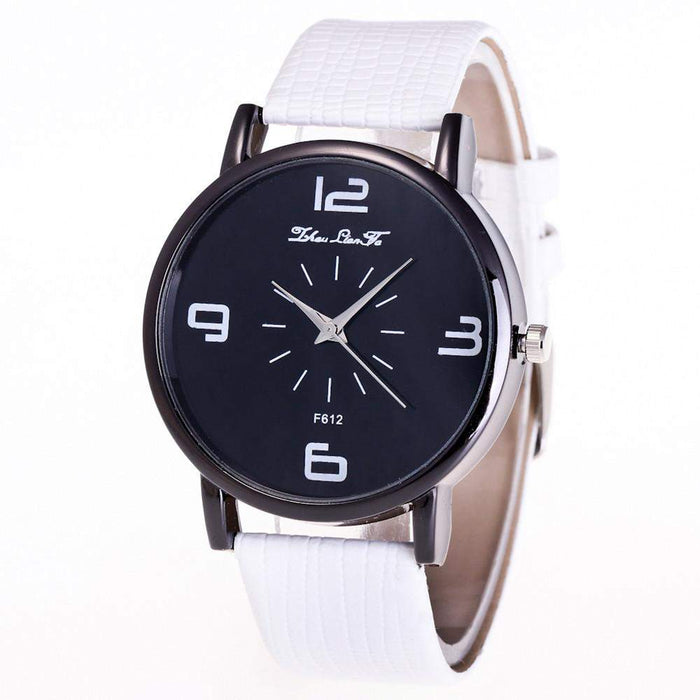 Luxury Brand 2017 Fashion number Parten Women Quartz Wrist Watch Leather Band Casual Dress Watch relogios de pulso feminino