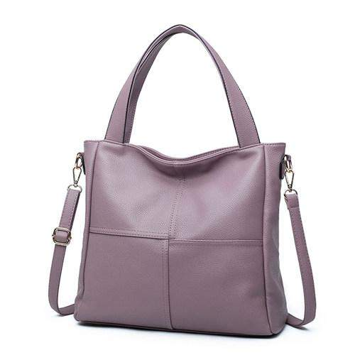 Bolish Soft PU Leather Women Tote Bag Fashion Patchwork Shoulder Bag Larger Size Women Crossbody Bag