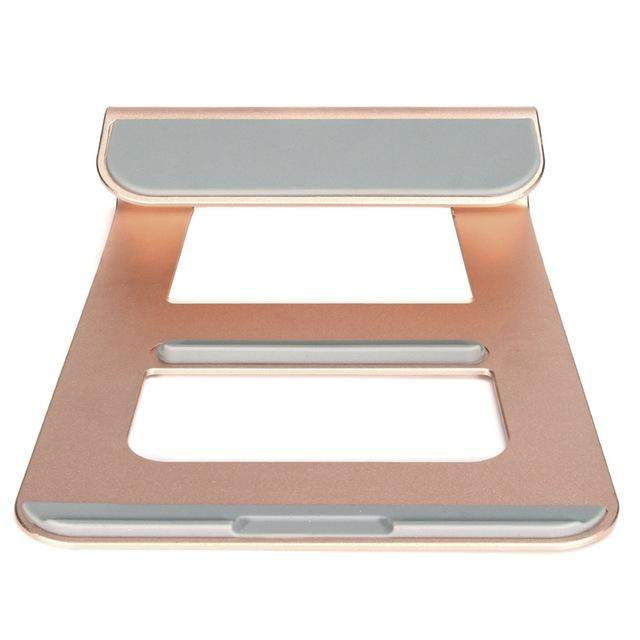 Aluminum Laptop Stand Holder Dock Desk Pad For MacBook Pro Air Tablet Notebook Portable Metal Laptop Cooling Pad Cooler Stand