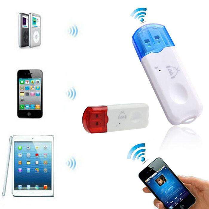 Wireless USB Bluetooth Stereo Audio Music Receiver Adapter For iPhone - successmall