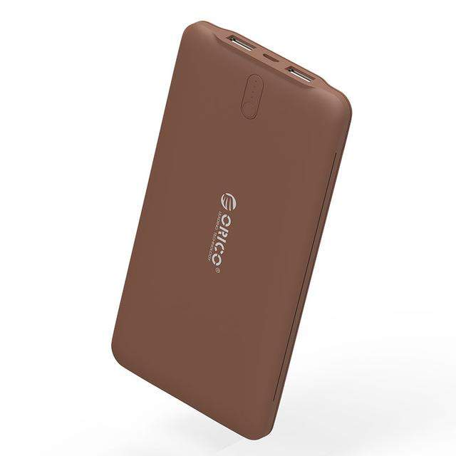 ORICO 10000mAh External Battery Charger Smart Identification 2.4A Dual USB Port Power Bank Universal