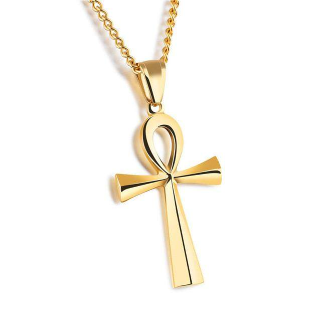 GAGAFEEL Stainless Steel Cross Pendant & Necklace For Men/Women Silver/Gold/Black Color Link Chain Religious Jewelry For Father - successmall