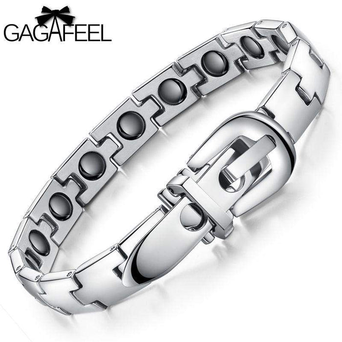 GAGAFEEL Men Bracelet Bangle Personalized Health Magnetic Titanium Steel Wristband Luxury Jewelry Friendship Best Gift B977 - successmall