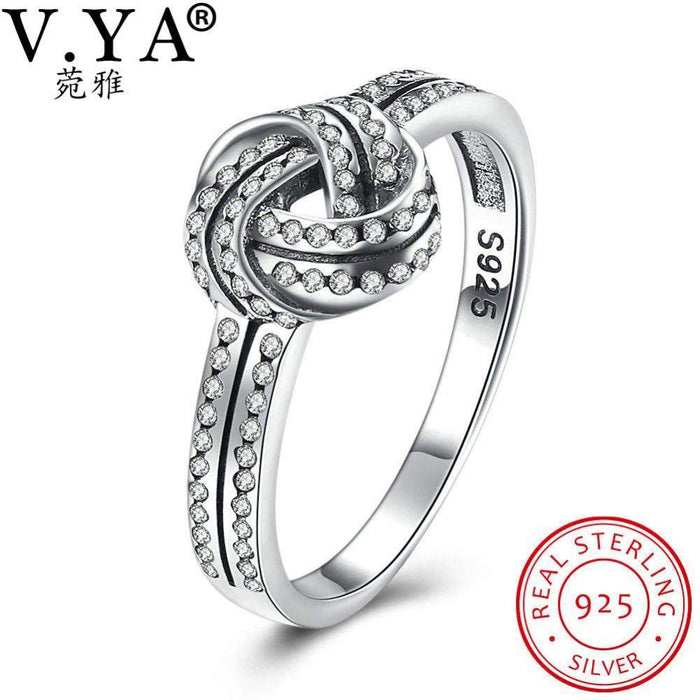 V.YA 100% 925 Sterling-Silver-Jewelry Woman's Anniversary Rings Luxury Brand Rings for Women Female Jewelry Accessories - successmall