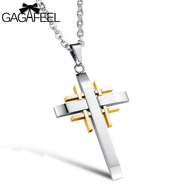 GAGAFEEL Punk Pendants Necklaces Man Women Titanium Stainless Steel Sword Male Trendy Sport Chain Handsome Bless Dropshipping - successmall
