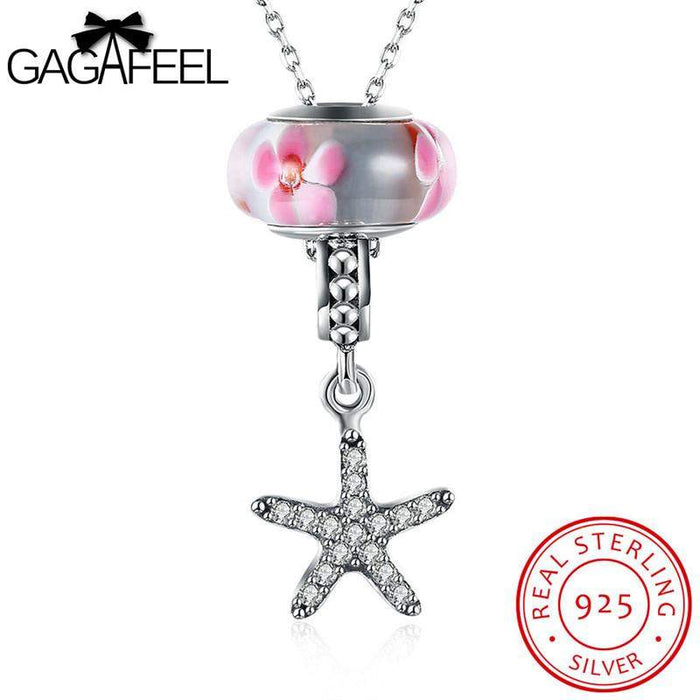 GAGAFEEL Star Statement Necklace 925 Sterling Silver Necklaces & Pendants Charming Movable CZ Zircon Link Chain Dropshipping - successmall