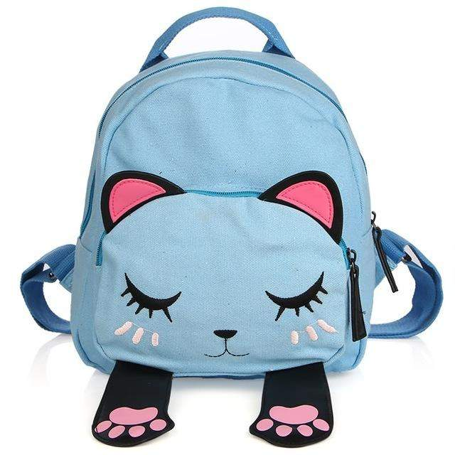 Luxy Moon Cat Bag Student Backpack for Teen Girls Top Quality Canvas School Backpacks Female Funny Preppy Shoulder Travel Bag