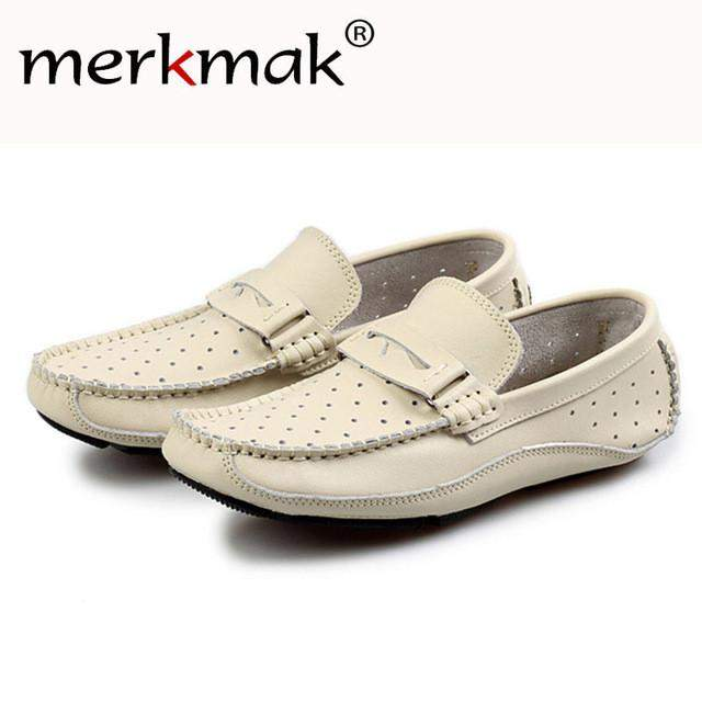 Mermak Luxury Brand Genuine Leather Men's Shoes 2017 Loafer Driving Footwear Spring Autum Men Slip On Flats Shoes Zapato Hombres - successmall