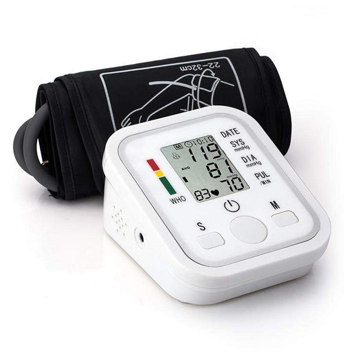 Home Health Care 1pcs Digital Lcd Upper Arm Blood Pressure Monitor Heart Beat Meter Machine Tonometer for Measuring Automatic - successmall