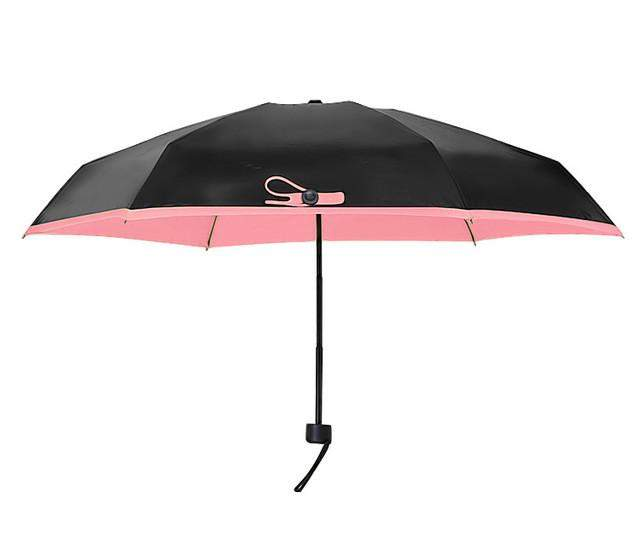 Quality Mini Pocket Umbrella, Women Sunny and Rainy Mini Fashion Folding Umbrellas, 195g Small Sun Parasol Umbrella Rain Women