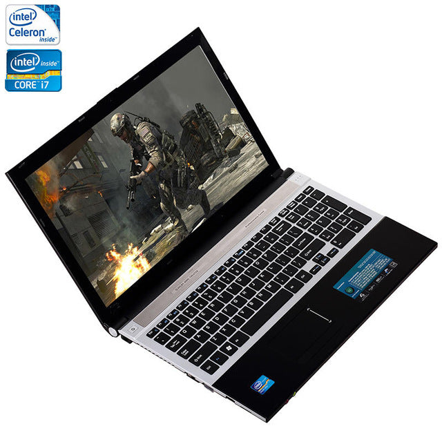 15.6inch 8GB RAM+500GB HDD i7 or J1900 CPU Windows 7/10 System 1920X1080P FHD Wifi Bluetooth Laptop Notebook Computer - successmall