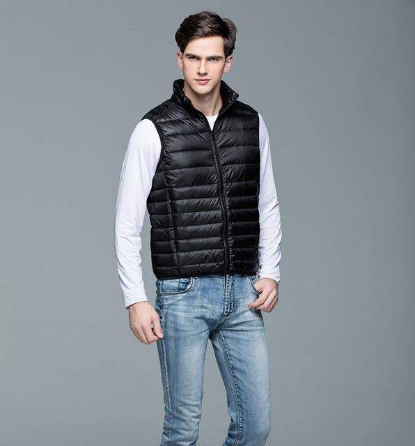 Mountainskin New Men's Warm Ultralight Down Jackets Vests Men Solid Thin Winter Vest Male Lightweight Coats Brand Clothing SA024 - successmall