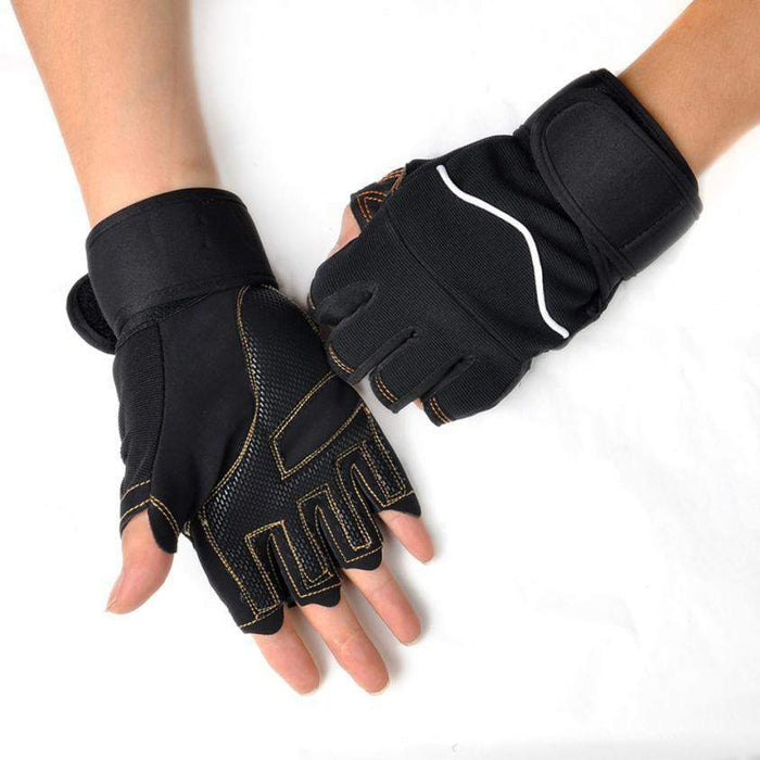 1 pair Outdoor Sport Gym Workout Weight Lifting Training Fingerless Gloves#W21 - successmall