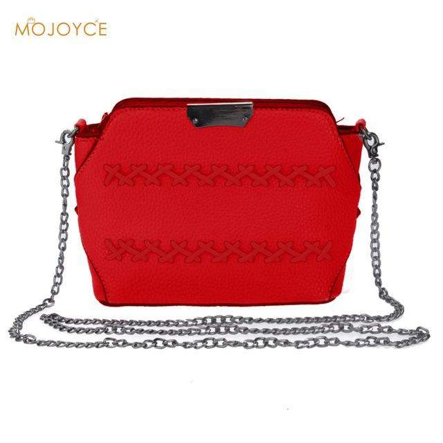 2017 Fashion Women Bags Women Messenger Bags Rivet Chain Shoulder Bag PU Leather Ladies small Crossbody Bags FOR Girls Bolsas