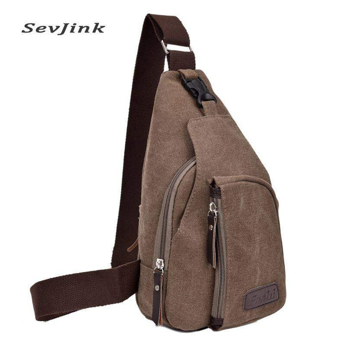 Hot 2017 Fashion Vintage Men Crossbody Bags Chest Canvas Water Proof Handbags For Male Military Shoulder Bag Bolsas - successmall
