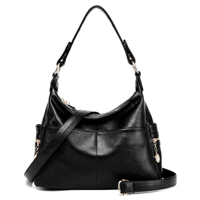 new genuine leather women messenger bags luxury brands women shoulder bag cowhide female large capacity mom bag tote - successmall