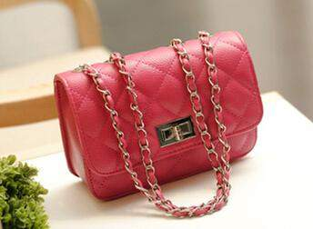 2017 Summer Fashion New Handbags High quality PU leather Women bag Sweet ladies Chain Shoulder Messenger bag Lock Square bag - successmall