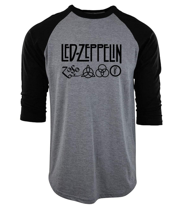 2017 Summer t shirt Casual cotton o-neck camisetas Led Zeppelin Rock Zoso Band tops tees men three quarter sleeve T-Shirts S-XXL - successmall