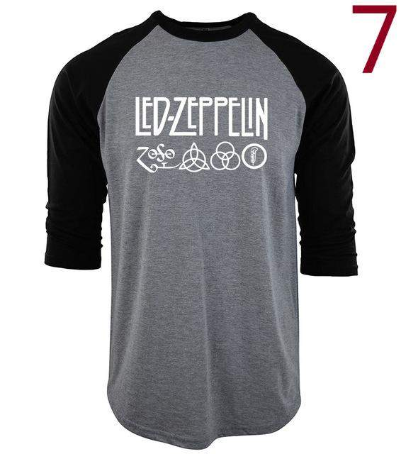 2017 Summer t shirt Casual cotton o-neck camisetas Led Zeppelin Rock Zoso Band tops tees men three quarter sleeve T-Shirts S-XXL