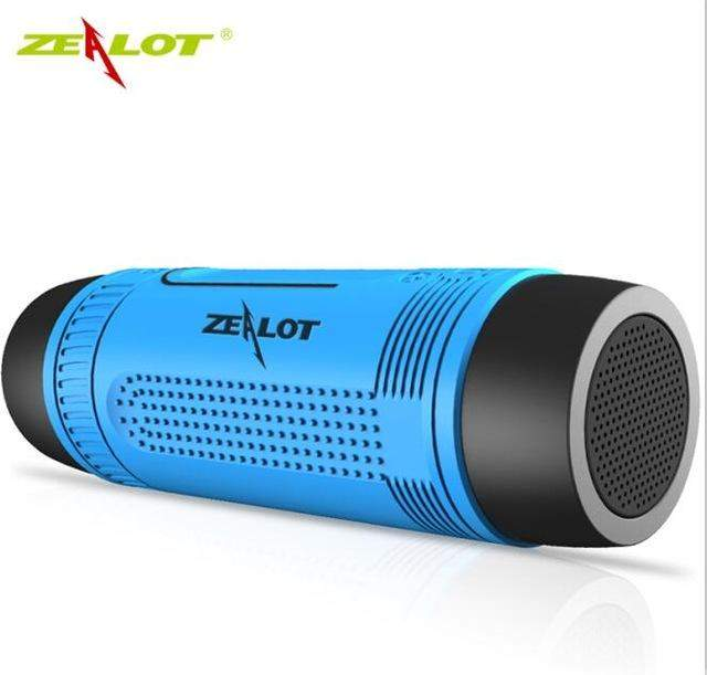 Zealot S1 Bluetooth Speaker Outdoor Bicycle Portable Subwoofer Bass Wireless Speakers Power Bank+LED light +Bike Mount+Carabiner - successmall