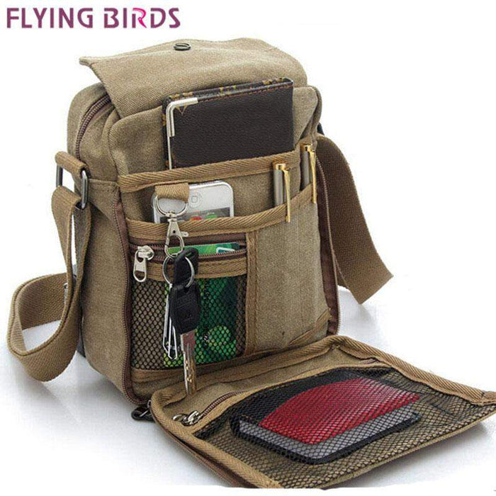 Flying birds! men messenger bags shoulder bag hot sale canvas bags high quality men's travel men bag high quality LM0001 - successmall